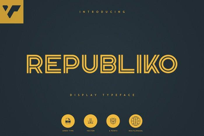 Republiko Font poster
