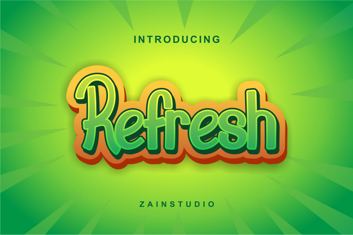 Refresh Font poster