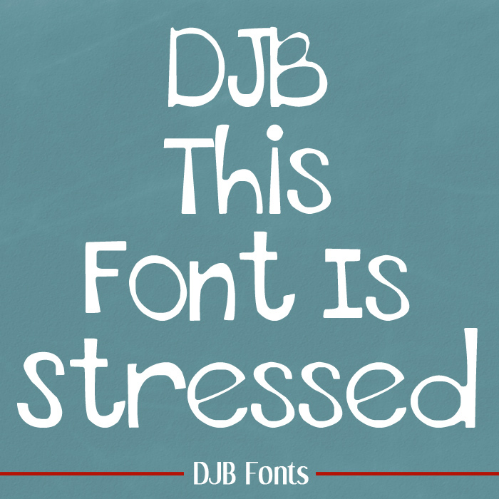 THIS FONT IS STRESSED - EURO poster