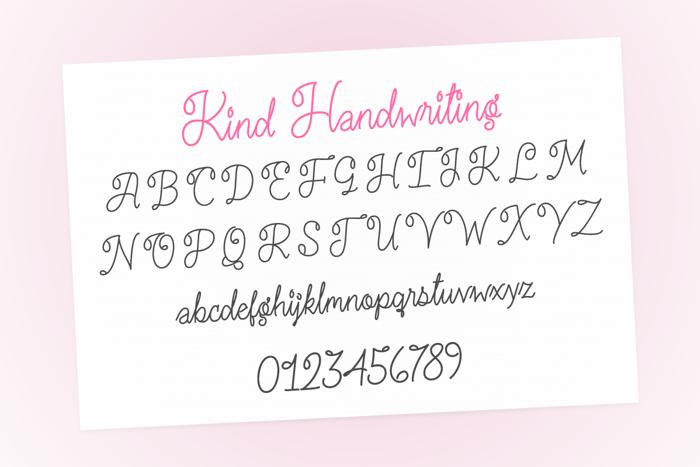 Kind Handwriting Font poster