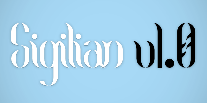 Sigilian Font poster