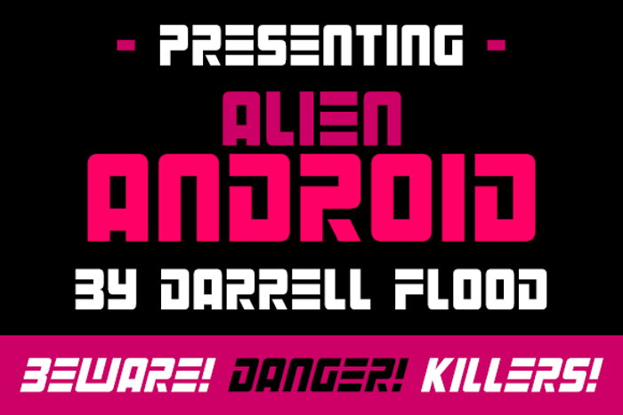 Alien Android Font poster
