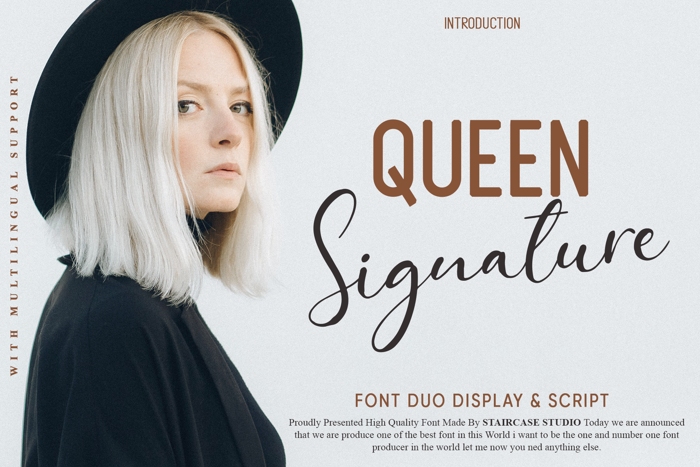 Queen Signature Duo Font poster