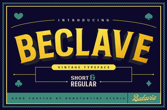 Beclave Bold Font poster