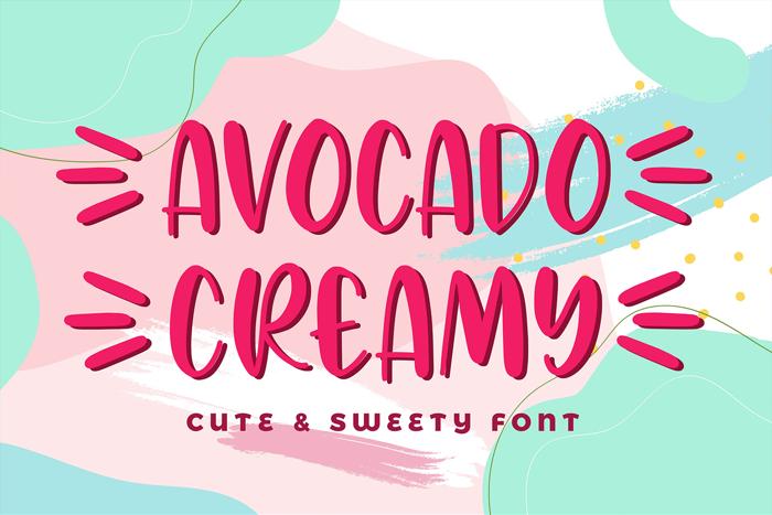 Avocado Creamy Font poster