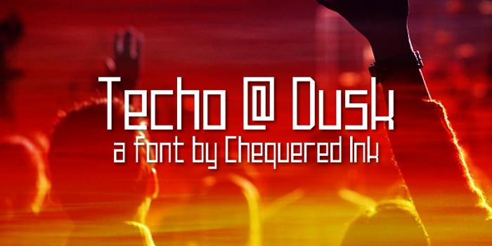 Techno at Dusk Font poster
