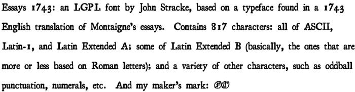 Essays 1743 Font poster