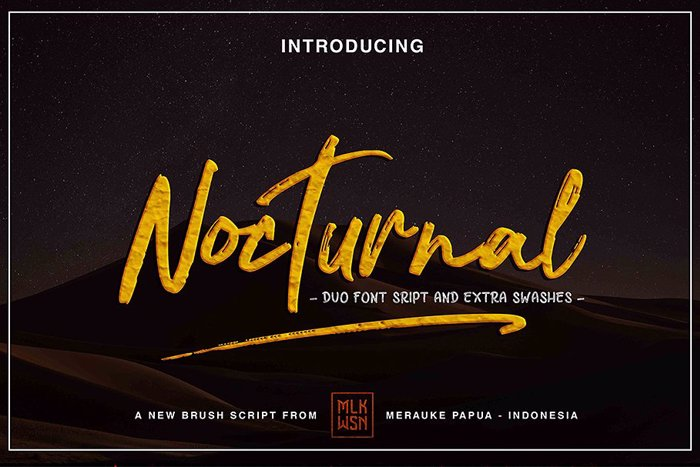 Nocturnal Font poster