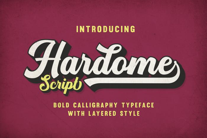 Hardome Font poster