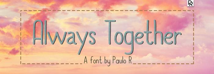 Always Together Font poster