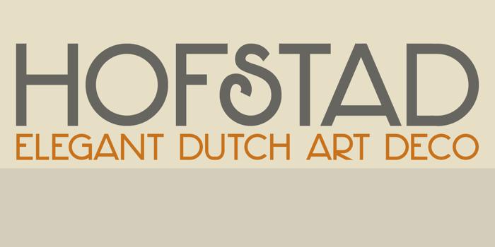 DK Hofstad Font poster