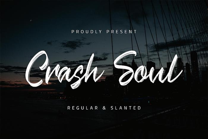 Crash Soul Font poster