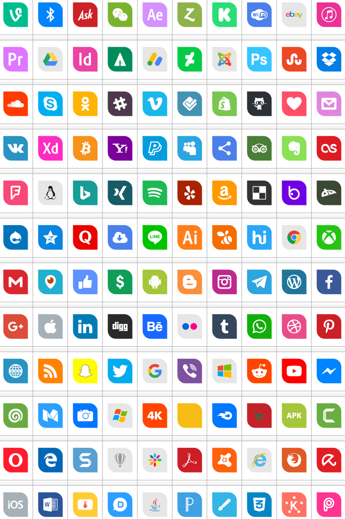 Icons Social Media 1 Font poster