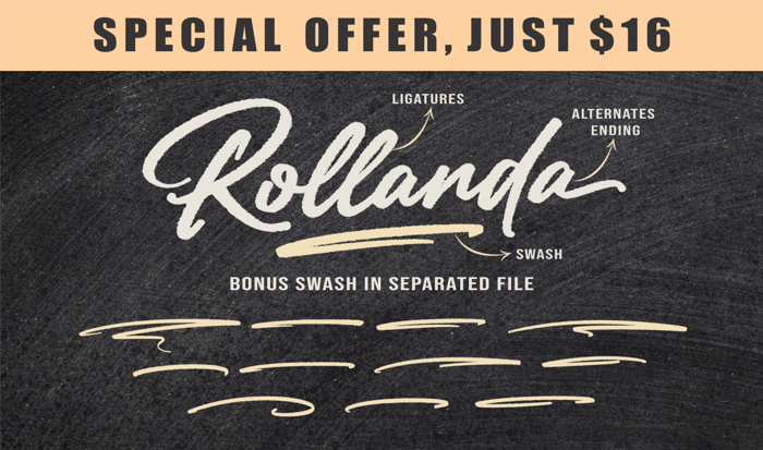 Rollanda Font poster
