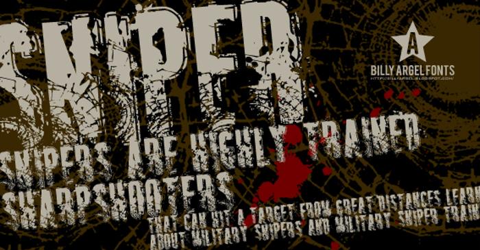 SNIPER Font poster