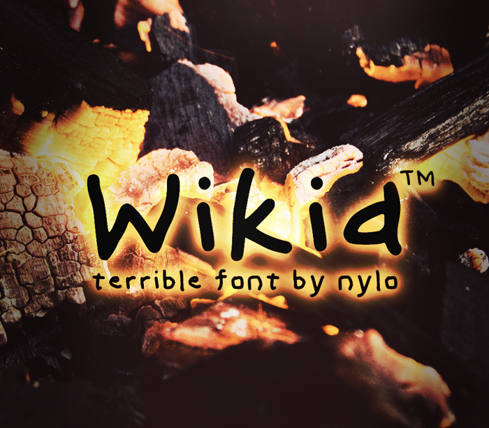 Wikid Font poster