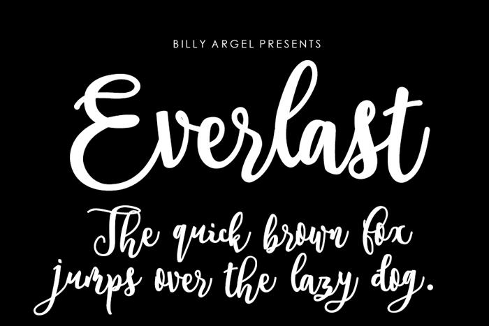 Everlast Font poster