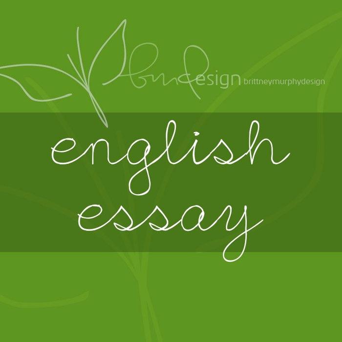 English Essay Font poster