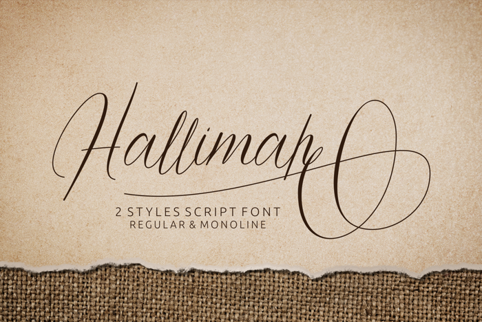Hallimah Font poster