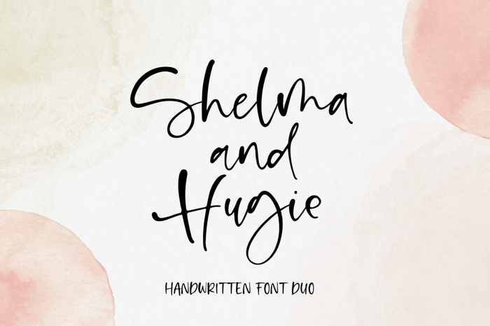 Shelma & Hugie Font poster