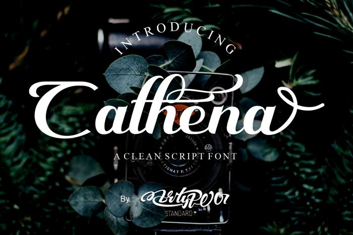 Cathena Font poster