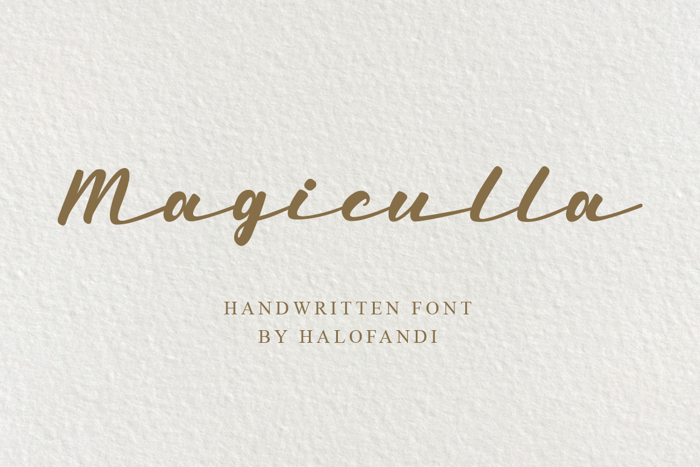 Magiculla Font poster