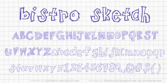 BistroSketch Font poster