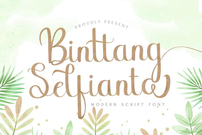Binttang Selfianto Font poster