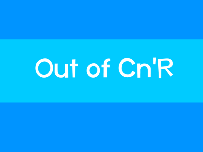Out of Cn'R Font poster