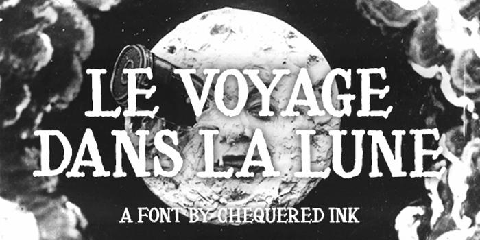 Le Voyage Dans La Lune Font poster