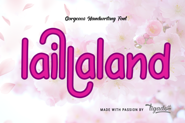 Lailaland Font poster