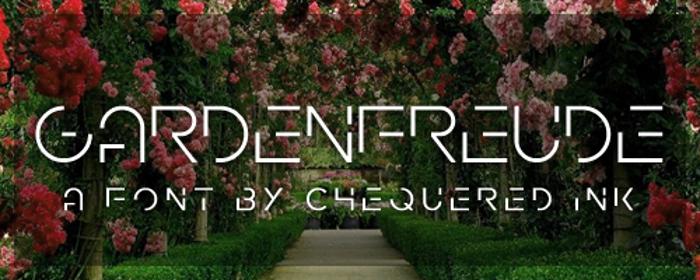 Gardenfreude Font poster