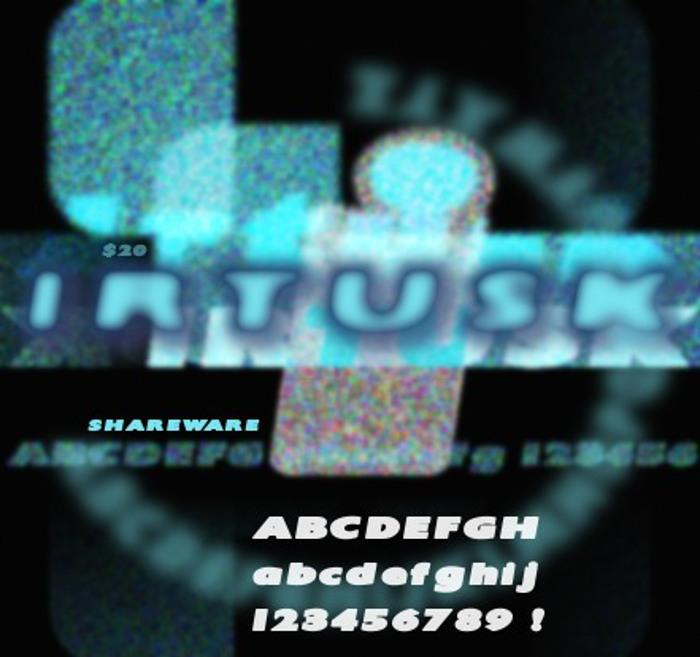 Irtusk Font poster