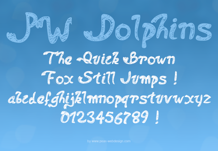PWDolphins Font poster