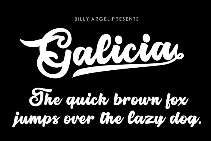 Galicia Font poster