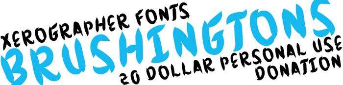 Brushingtons Font poster