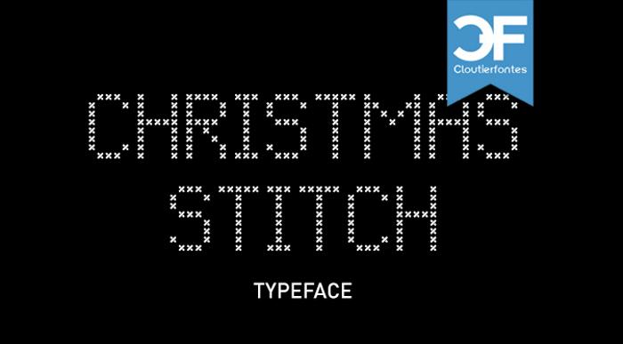 CF Christmas Stitch Font poster