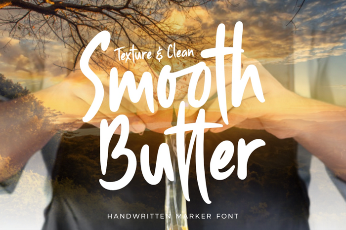 Smooth Butter Font poster
