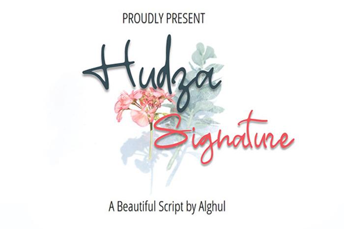 Hudza Signature Font poster