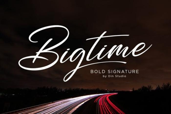 Bigtime Font poster