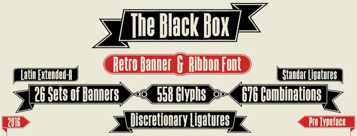 The Black Box Font poster