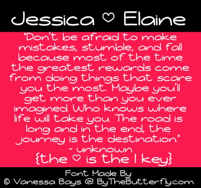 Jessica Elaine Font poster