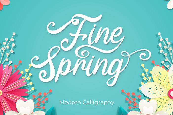 Fine Spring Font poster
