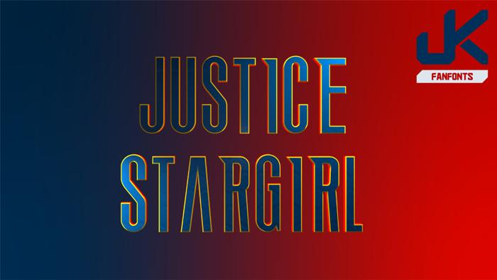 Justice Stargirl Font poster