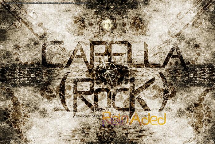 Capella (Rock) - LJ Design Stud Font poster