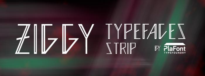 Ziggy  Font poster
