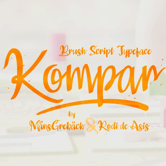 Kompar Font poster