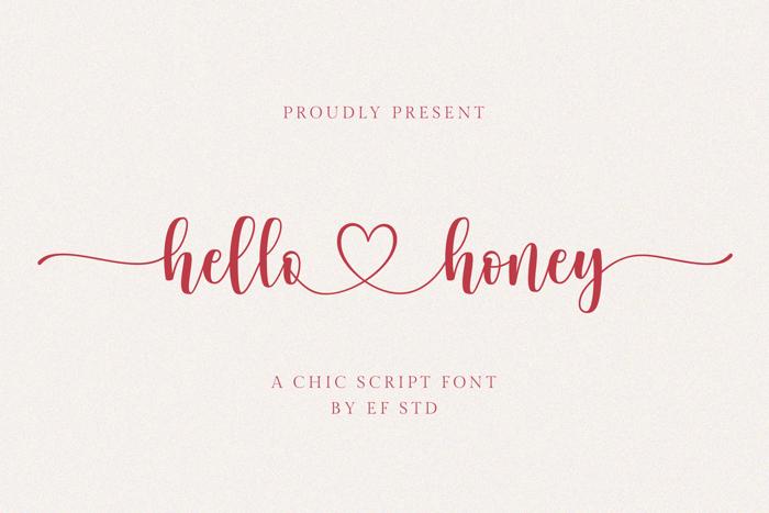 hello honey Font poster