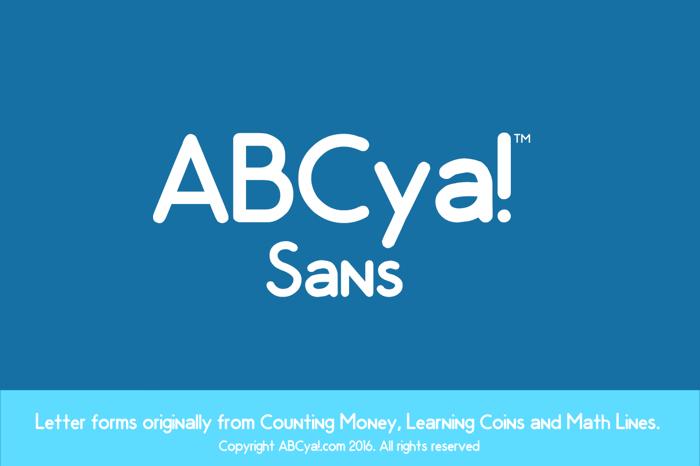ABCya Sans Font poster