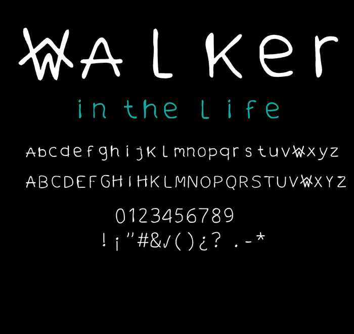 walker in the life Font poster